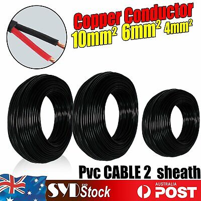 Insulated Wire 2 Sheath Twin Core 6mm 10mm 4mm Electrical Cable Auto 4WD Camper