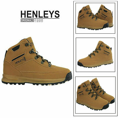 Henleys Mens Travis Hiking Boots Walking Lace Up Outdoor Shoes Sizes UK 6 - 12
