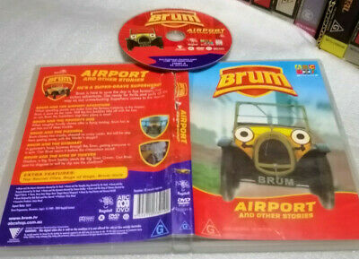 BRUM - AIRPORT (5 Stories) - 2002 OZ ABC For KidsRoadshowRagdoll DVD Issue! R4