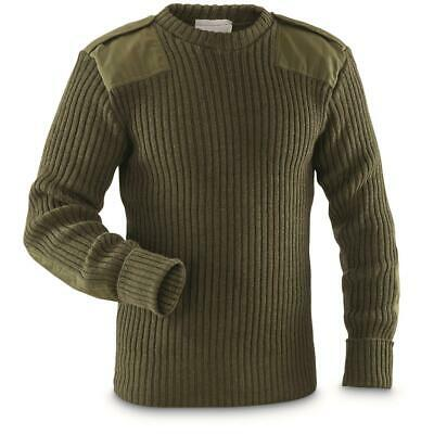 British Army Jumper Wool Jersey New Genuine 80% Wool Olive Green MOD Military