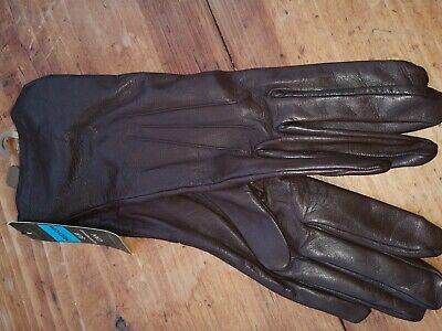 Ladies Marks and Spencer brown leather gloves M
