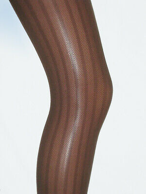 Chocolate Brown Girls Tights. Age 10-12 ribbed opaque