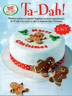 ~ Magazine Pull-Out Recipe For Three Melt & Mix Christmas Cake Designs ~ Photos