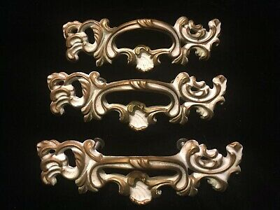 "Vintage French Provincial Drawer Pull Marked B 1557 7-3//4/"" L  4.5/"" center"