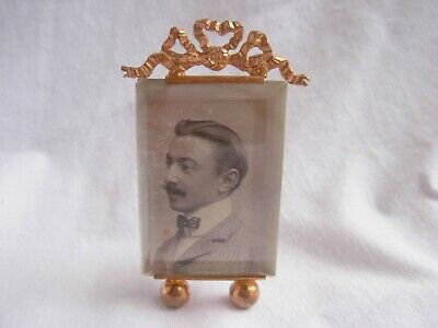 AMAZING ANTIQUE FRENCH GILT BRASS BEVELED GLASS PHOTO FRAME,LATE 19th CENTURY.