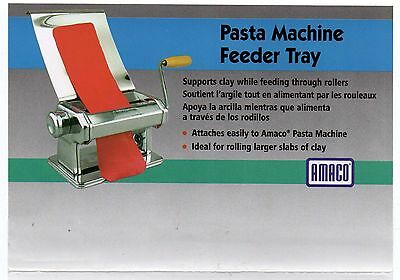 Amaco Stainless Steel Feeder Tray for Craft Pasta Machine Model 12381S