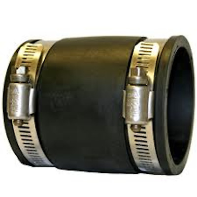 Straight Connectors Drainage Ponds 25mm To 315mm Flexible Rubber Couplers