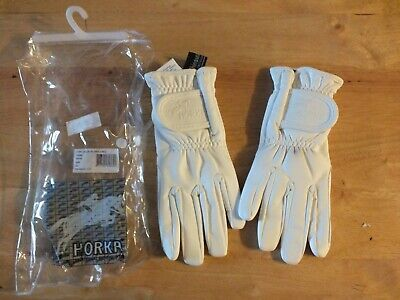 horka thinsulate  gloves white  size extra small horse riding gloves
