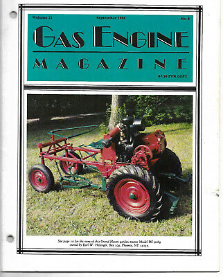 Gas Engine magazine 9/1986 Grand Haven Garden Tractor Rawleigh schryer temple