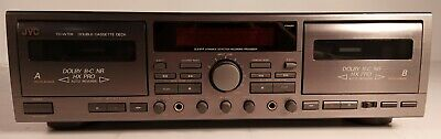 JVC TD-W709 Stereo Double Cassette Tape Deck Recording Processor