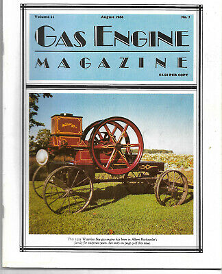 Gas Engine magazine 8/1986 1923 waterloo boy watkins marine engine