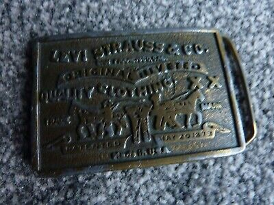 Levi Strauss And Co Vintage Belt Buckle - Made In Usa