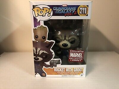 Marvel Collector Corps GUARDIANS OF THE GALAXY FUNKO Rocket with Baby Groot #211