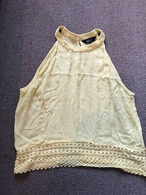 Girls New Look 915 Generation Sleeveless Yellow  Top. Age 14 164 Cm