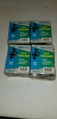 """Ultra Pro 3"""" x 4"""" Super Clear Premium Toploader Trading Card Protector 100ct"""