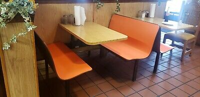 Restaurant booth used