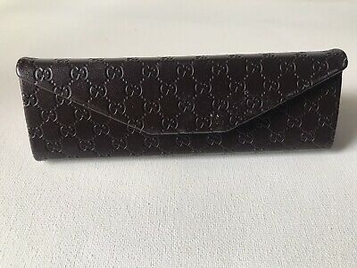Authentic Brown Gucci Eyeglass Case