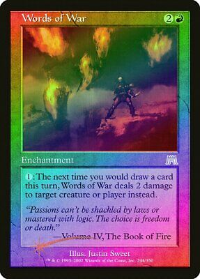 Words of Wind Onslaught HEAVILY PLD Blue Rare MAGIC THE GATHERING CARD ABUGames