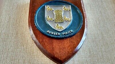 Sussex Police Plaque