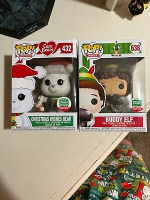 Funko Pop Animation - Care Bears Christmas Wishes Bear - Funko Shop Excl and ELF