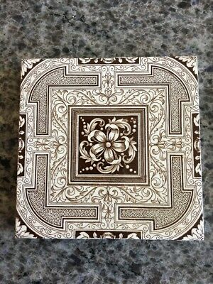 Antique Mintons China Works Stoke on Trent Brown Aesthetic Movement Price Each