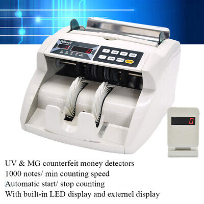 Money Bill Counter Cash Counting Machine Bank Currency Counterfeit Detector U2K6