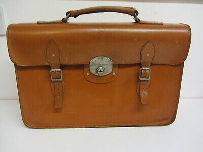 Vintage Cheney Tan Leather, Document case, Briefcase, Satchell Holdall