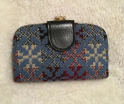 Vintage Welsh Tapestry Wool Purse  ~ Christmas Gift