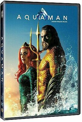 Aquaman Dvd Movie Dc New Sealed Bilingual Jason Momoa Justice Superman Batman