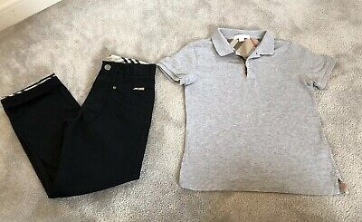 Boys Outfit Age 8 Burberry Designer Jeans And Top