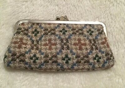 Vintage Welsh Tapestry Wool Coin Purse ~ Christmas Gift