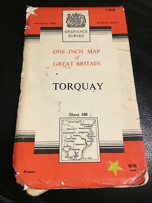 Vintage Ordnance Survey Map Torquay sheet 188