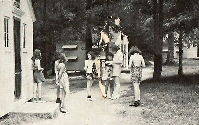 Old View of YMCA Camp Pittenger, Tiffin, Ohio, Vintage, Stamped Postcard A36