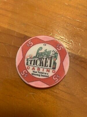 Lucky Ticket Casino Season Ticket Sports $5 Casino Chip $3.99 Combined Shipping
