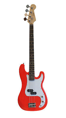 Bass Guitar 4 String for beginners Light Red iMEB739 Good Quality Good Price