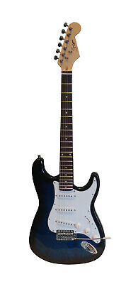 Electric Guitar ST Style full size for beginners Blue iMEG285 iMusicGuitar