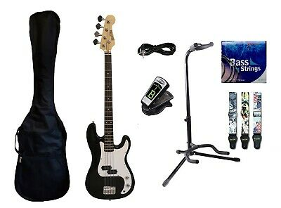 Bass Guitar 4 String for beginners Black iMEB807SPK with Package