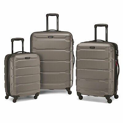 "Samsonite Omni 3 Piece Hardside Luggage Nested Spinner Set (20""/24""/28"") Silver"