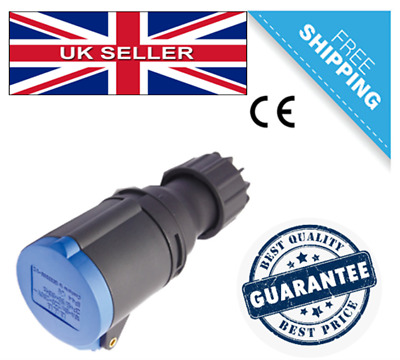 Genuine IECEE Approved Blue/Black 240V 16 AMP 3 Pin Plug Female IP44 Connector