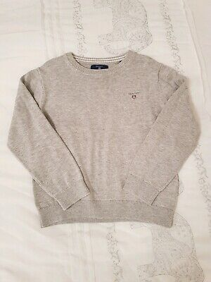 Boys GANT Grey Jumper Sweater Pullover. Age 5-6. Excellent condition