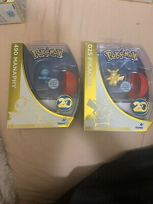 Tomy Pokemon 20th Anniversary  025 Pikachu 490 Manaphy Limited Edition Figures