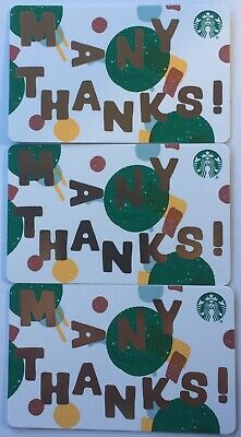 "Lot 3 Starbucks ""STARBUCKS JUMBLED"" Christmas 2019 Recycled Paper Gift Card set"