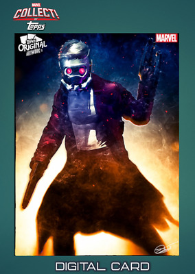 2019 TOPPS ORIGINAL ARTWORK MURRAY ARMED STAR-LORD Topps Marvel Collect Digital