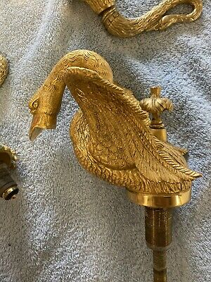 Vintage Sherle Wagner Phylrich Style Swan Bathroom Sink Faucet & Fixtures