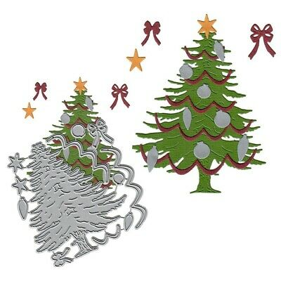1X Christmas Tree Carbon Steel Die Metal Stencils Die Cut DIY Paper ReZKo