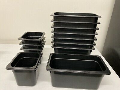 Lot Of 12 Cambro Food Pan Containers