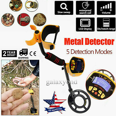 MD-3010II LCD Metal Detector Waterproof Gold Digger Deep Sensitive Light Hunter