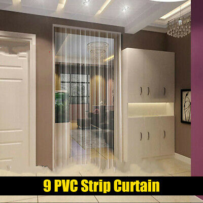 9 Strip Door Curtains Clear Plastic pvc Strip Window Curtains for Factories Mall