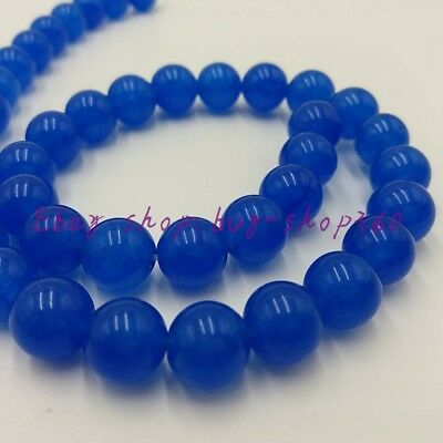 """New Natural 6mm Round Blue Sapphire Gemstone Loose Beads 15"""" AAA"""
