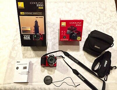 Nikon Coolpix B500 16MP 40 X Optical Zoom Digital Camera PACK W / Built-in Wi-Fi